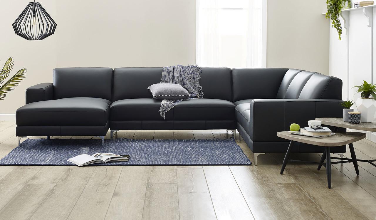leather corner lounge