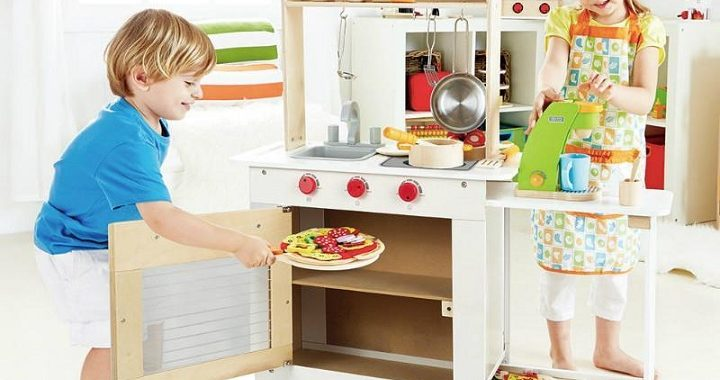 wooden kitchen for kids