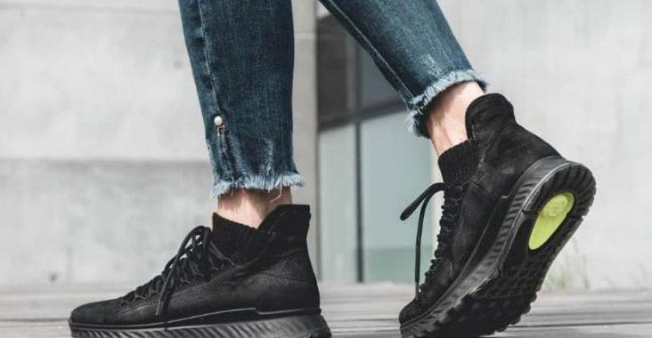 black comfy sneakers