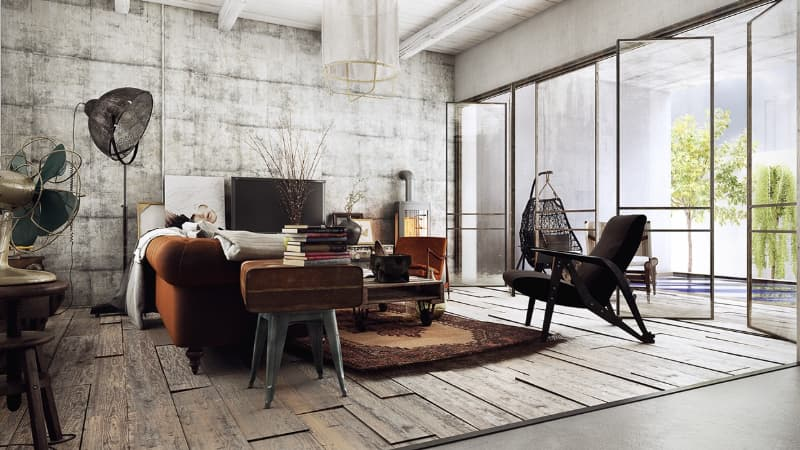 industrial design living room
