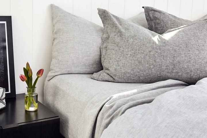 organic gray king blanket