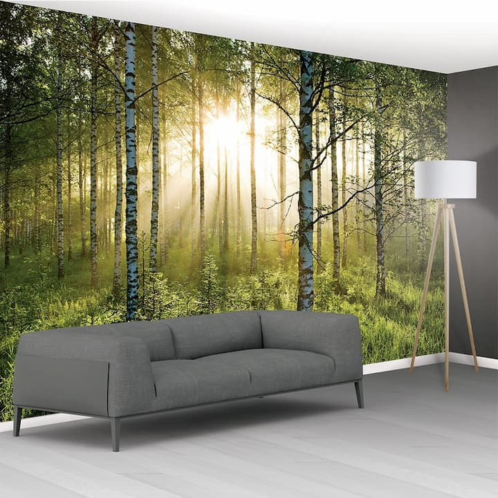 green-forest-tranquil-forest-scene-mural-wallpaper