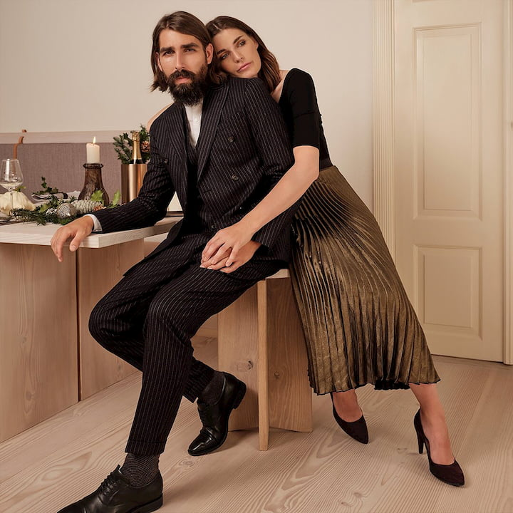 couple wearing ecco shoes