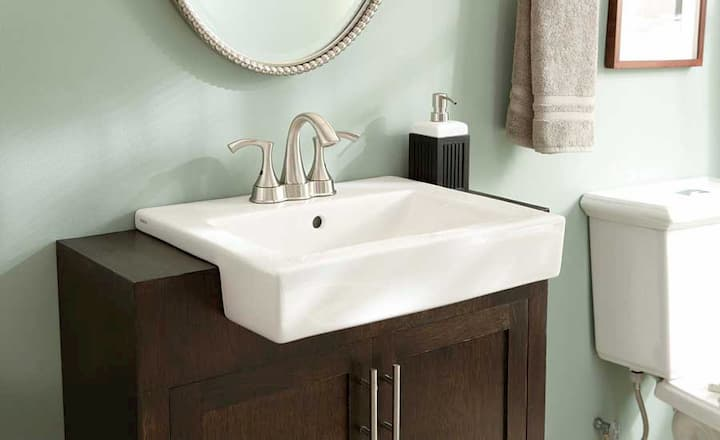 semi-recessed-sink