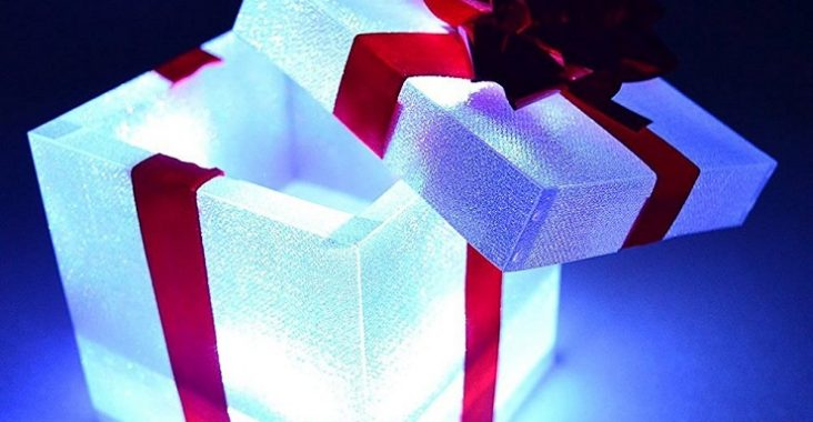 picture of a light up gift box