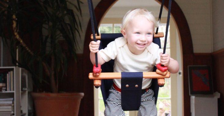 Kid on a Solvej Swing