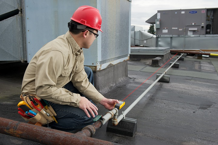 Working with laser distance measurer