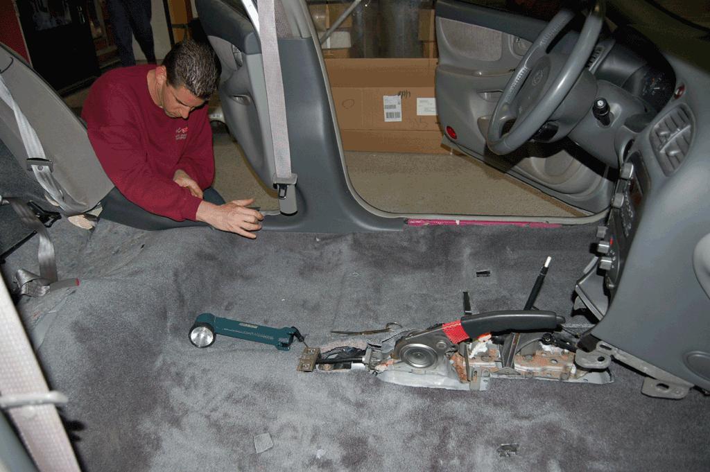 moulded car carpet insertion